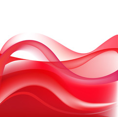 vector abstract red wavy background, wallpaper
