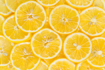 Sliced lemon fruits
