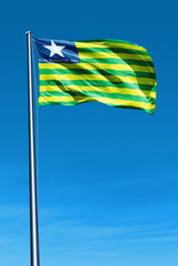 Piaui (Brazil) flag waving on the wind