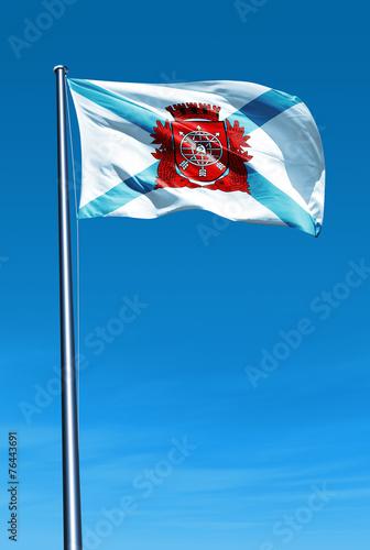 Rio De Janeiro Brazil Flag Waving On The Wind Stock Photo
