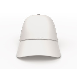 White baseball cap for your design front view