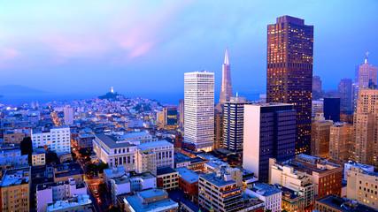 San Francisco Skyline at Dusk Wall mural