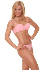Beautiful athletic woman in bikini