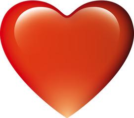 Coeur Rouge Sur Fond Blanc Amour Kazy