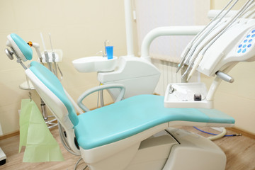 Dentist's chair in a medical room