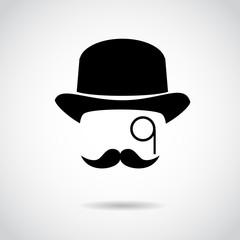 Gentleman vector icon.