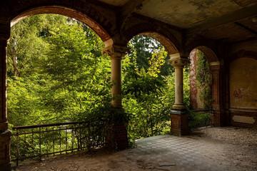 Photo sur cadre textile Ancien hôpital Beelitz Beelitz Heilstätten - Frauenlungensanatorium