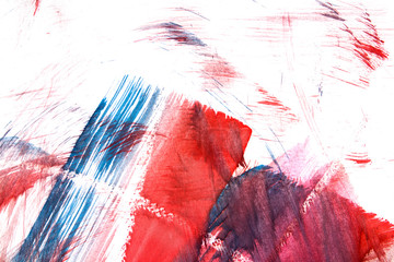 """Abstract watercolor drawing """"Sunrise in mountain"""""""