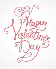 Happy Valentine's Day - handmade inscription.