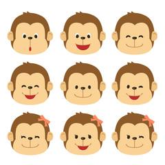 猿 表情 アイコン