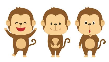 猿 イラスト素材