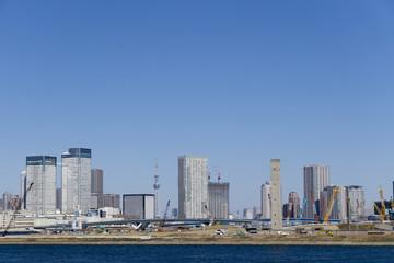 東京スカイツリーと開発が進む東京湾岸 晴海、豊洲エリア