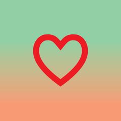vector heart shape symbol