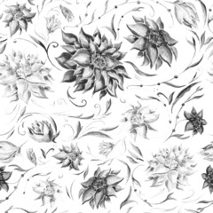 Watercolor gothic pattern