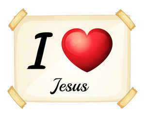 A flashcard showing the love of Jesus