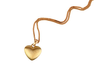 Golden heart pendant