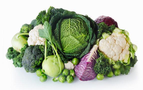 Fresh Farm Vegetables on White Background
