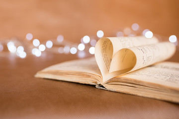 Valentines Day background with light brown heart