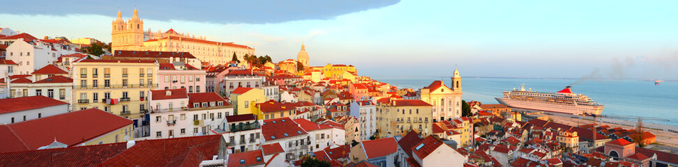 Lisbon Old Town skyline Wall mural