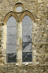 stained-glass window of St. Thomas curch, Rye