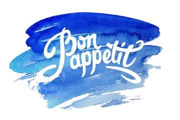 Estores personalizados para cocina con tu foto Bon appetit hand drawn lettering