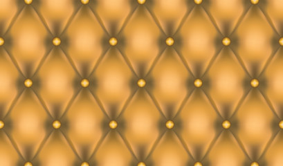 Wall Mural - Gold luxury quiltn vector seamless pattern