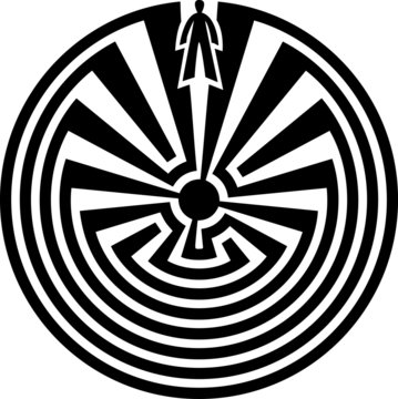 Man in the Maze, Journey Through Life, Native American Indians