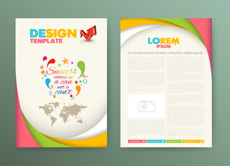 Brochure Flyer design Layout template with success