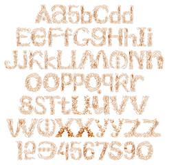 3D henna alphabet full isolated on white