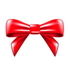 red bow. vector illustration