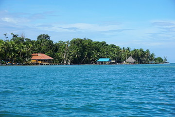 Coast of Carenero island in Bocas del Toro Panama