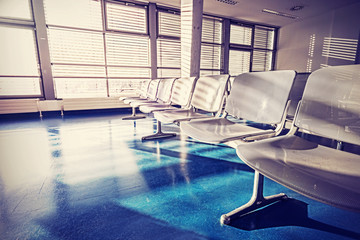 Vintage filtered picture of waiting room.