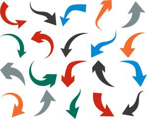 Set of arrow icons.