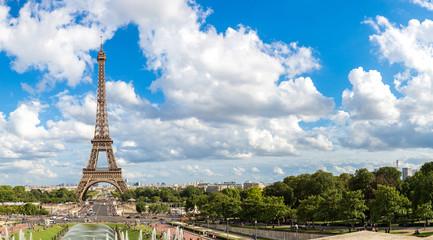 Panoramic view of Eiffel Tower in Paris