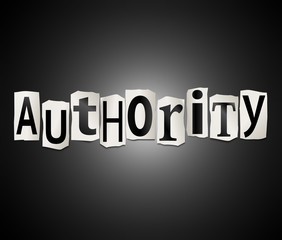 Authority concept.