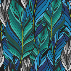 Texture with colorful feathers