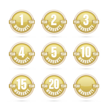gold warranty labels collection