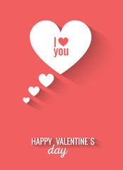 Valentines flat design