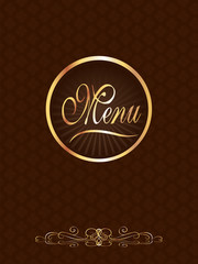 Brown & Gold Gourmet Menu Cover