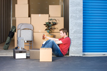 Storage: Taking a Break From Lifting Wall mural