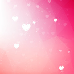 Soft pink valentine background