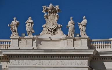 Papal Coat of Arms, Saint Peter's Basilica, Rome
