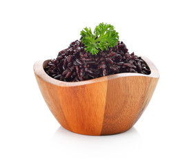 rice berry in bowl on white background