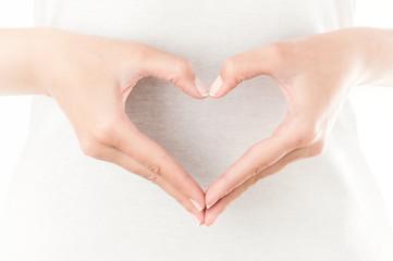 Heart shaped hands