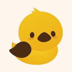 Animal duck flat icon elements, eps10