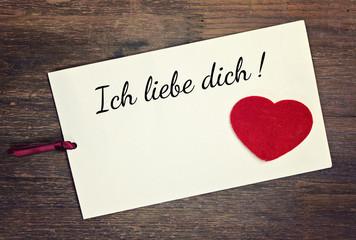 greeting card - ich liebe dich