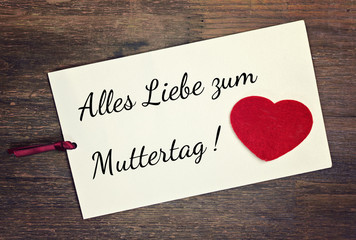 greeting card - german muttertag