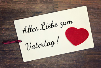greeting card - german vatertag