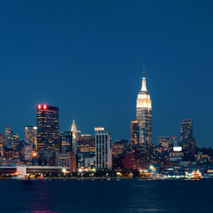 Printed roller blinds Chicago Empire State Building night