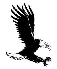 Vector sign. White eagle.